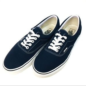 VANS NAVY AND WHITE ERA SNEAKERS SIZE M 10 W 11.5